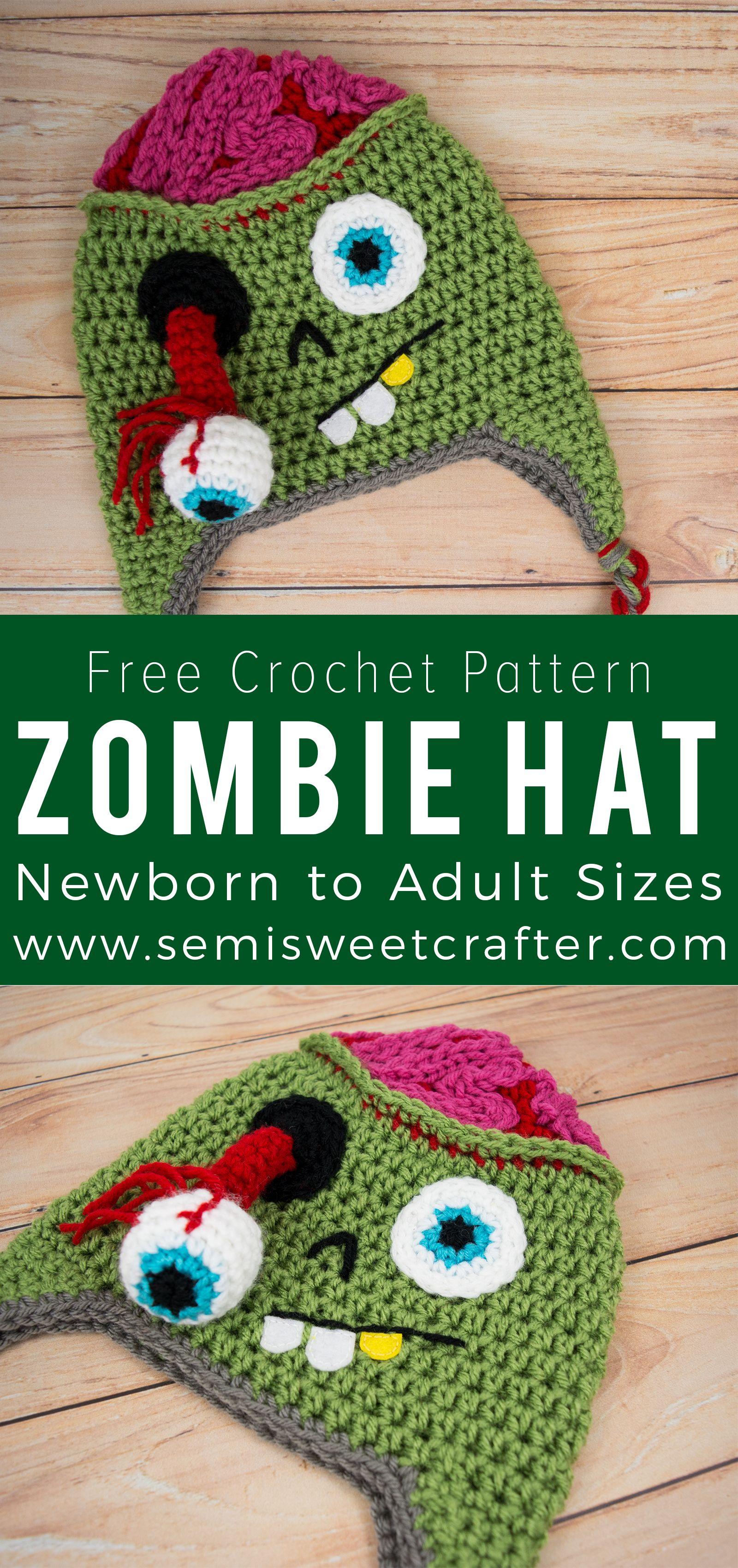 Zombie Hat | Hat Lovers | Pinterest | Gorros, Gorros crochet y Tejido