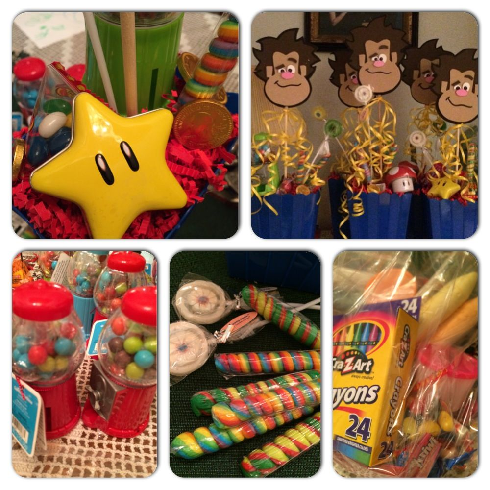 Wreck It Ralph Party Favors And Center Pieces Combined Birthday