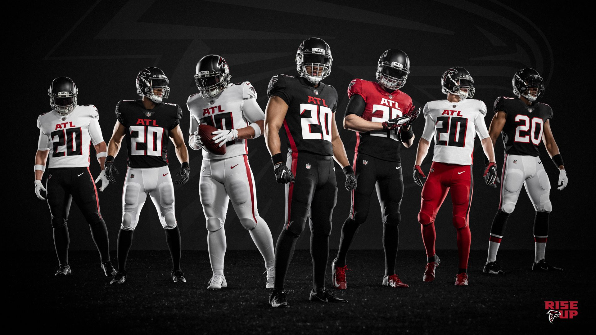 Falcons Unveil New Uniforms In 2020 Nfl Uniforms New Nfl Uniforms Atlanta Falcons