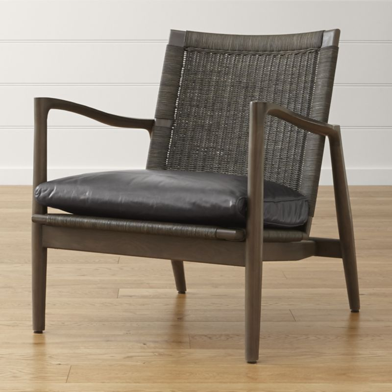 Mid century lounge chair with leather cushion reviews