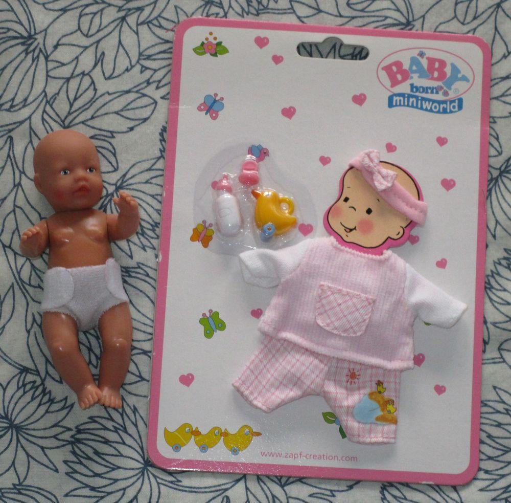 Zapf Creation Baby Born Miniworld Puppe + Bekleidungsset