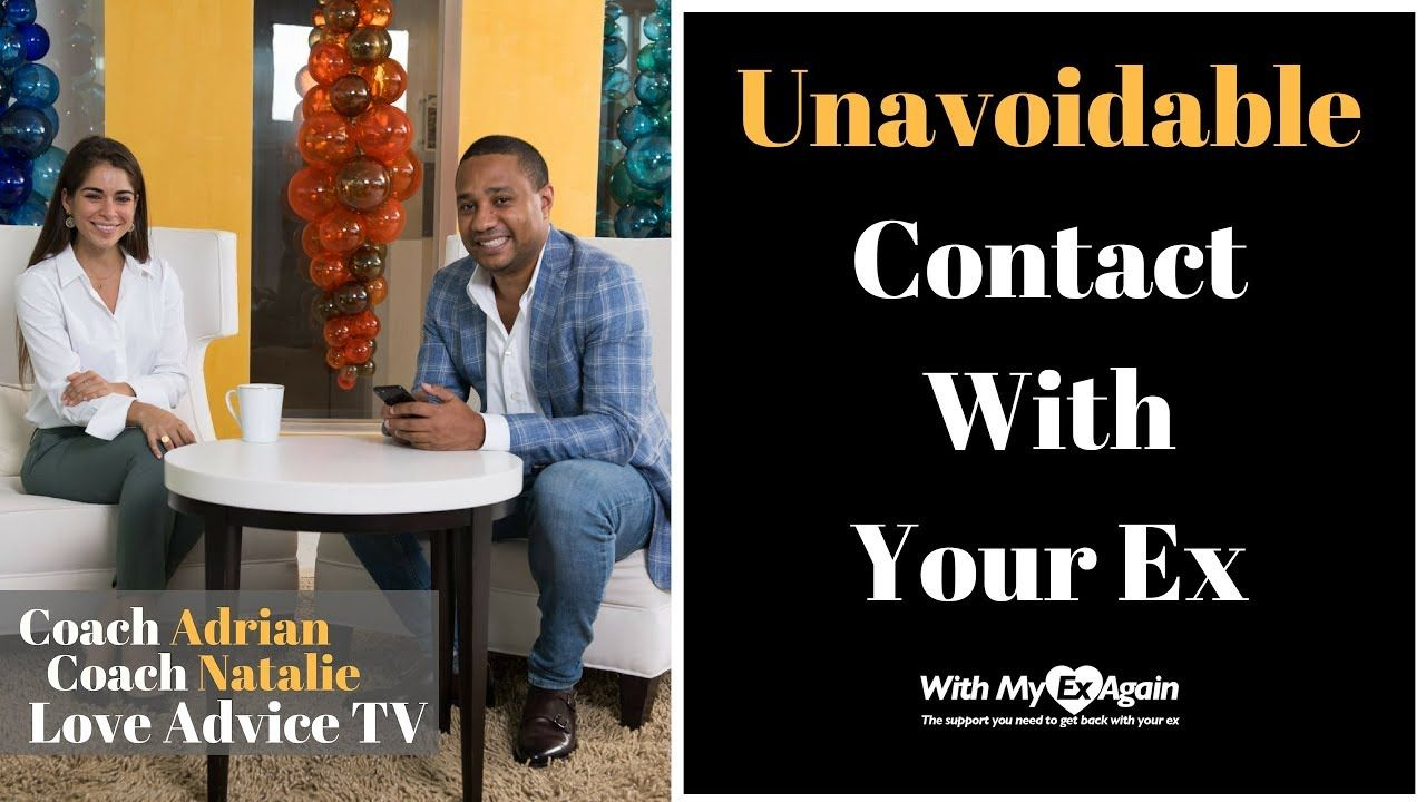 How to handle unavoidable contact with your ex live