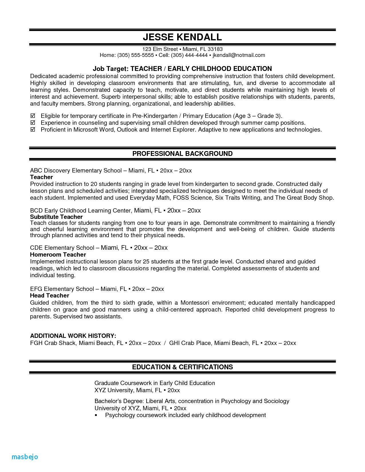 80 Beautiful Image Of Resume Examples Child Care Assistant Middle School Math Lesson Plans Math Lessons Middle School Teacher Resume Examples Sample resume for child care teacher