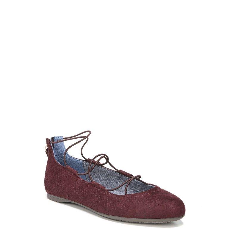 Dr. Scholl s Women s Glory Memory Foam Flat Shoes (Merlot Micro ... e565b4a81af