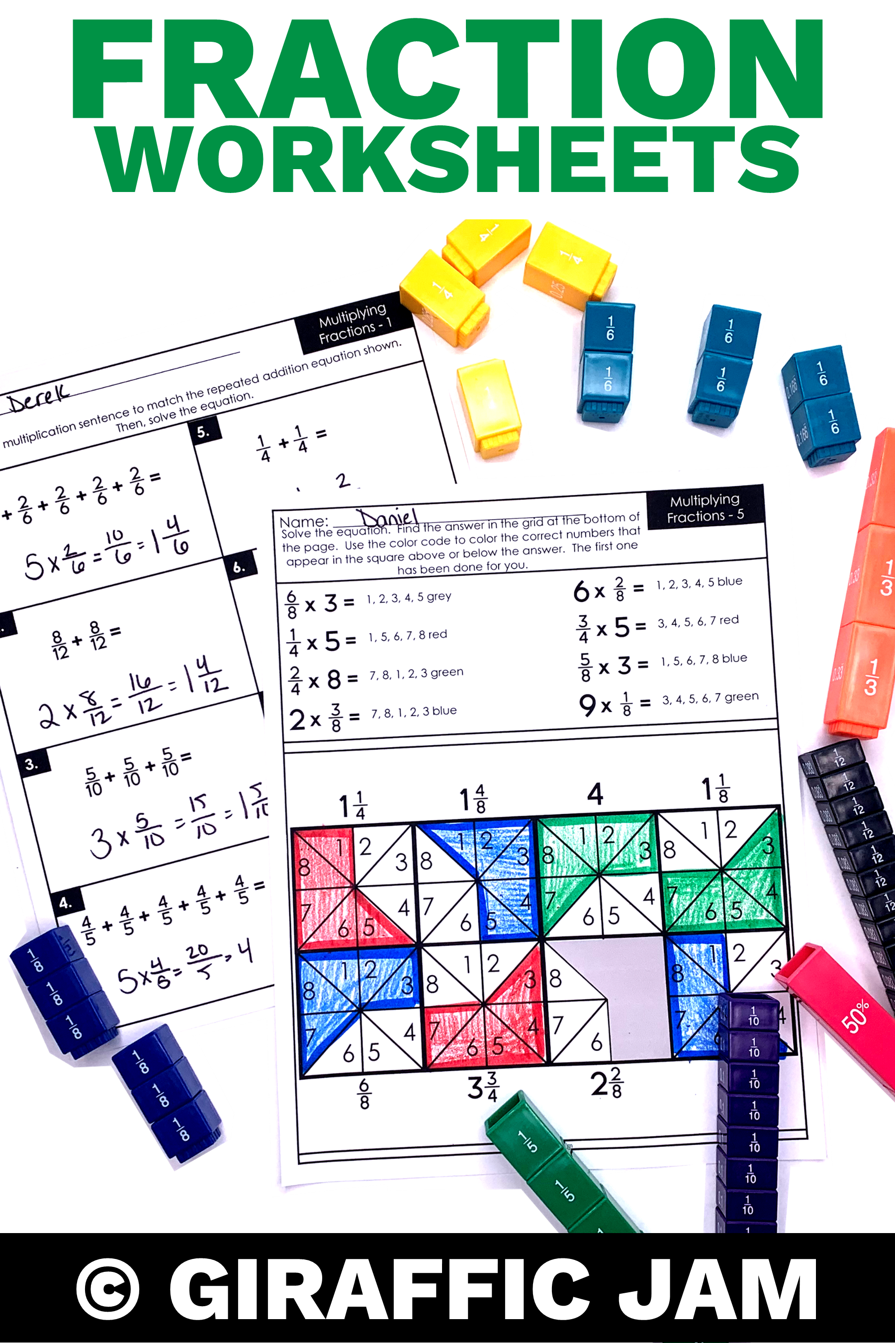 small resolution of 4th Grade fractions   Multiplying Fractions   Fraction worksheets   4th  Grade Math Worksheets  …   Multiplying fractions worksheets