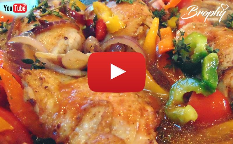 How to make roast chicken and sweet peppers video