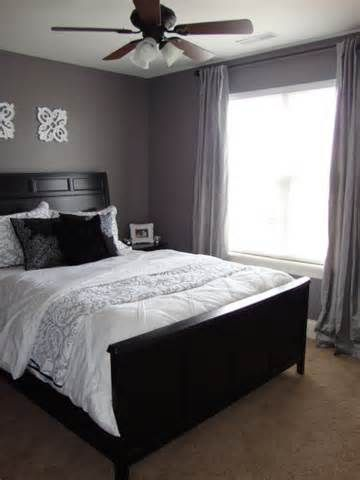 Purple Grey Guest Bedroom, Paint: Valspar Dusty Lead, Bedrooms Design