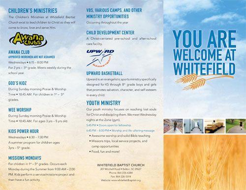 Custom Church Brochures  OutreachCom  Work    Churches