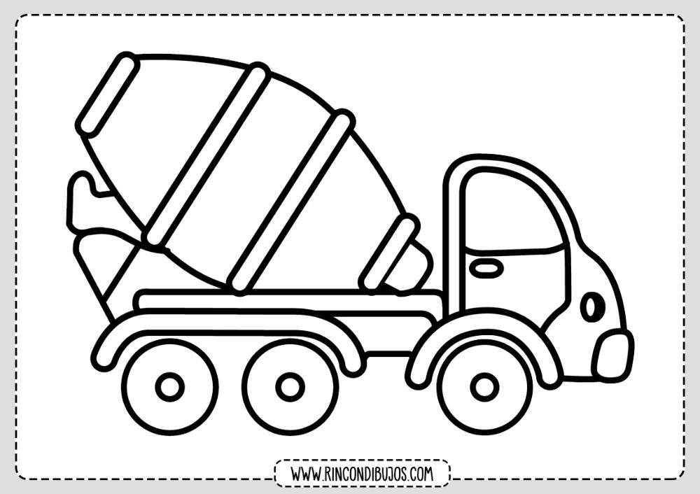 Dibujos De Camiones Para Colorear Rincon Dibujos Camion Dibujo Carros Para Colorear Tren Para Colorear