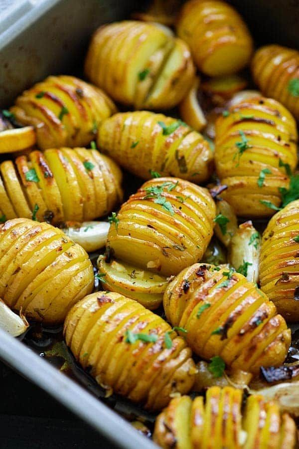 Lemon herb roasted potatoes -  Lemon herb roasted potatoes  -