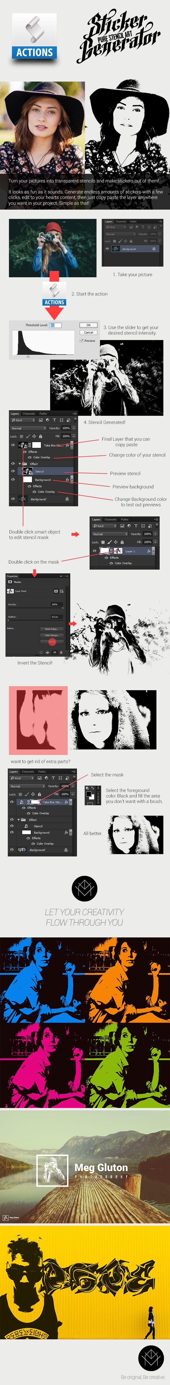 Pure Stencil Art Actions V4 (Sticker Generator) Photo