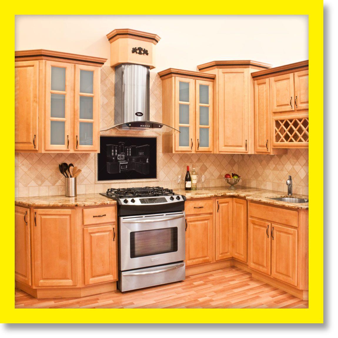 10x10 All Wood Kitchen Cabinets Rta Richmond 816124022510 Ebay Maple Kitchen Cabinets Kitchen Remodel Small Kitchen Remodel