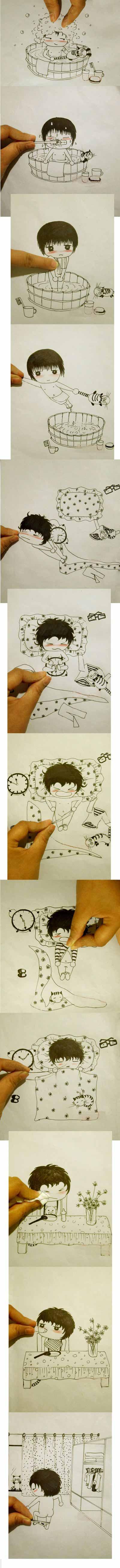Vẽ tranh ChiBi miêu tả sinh hoạt hằng ngày Dễ thương cực http://xapxinh.com/pictures/z/0/1/moi-nhat