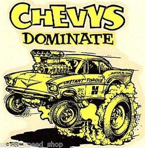 Vintage Ed Roth Water Decal 1957 Chevy Gasser Nhra Hot Rod Drag Racing Old Ahra Hot Rods Cars Muscle Hot Rods Chevy