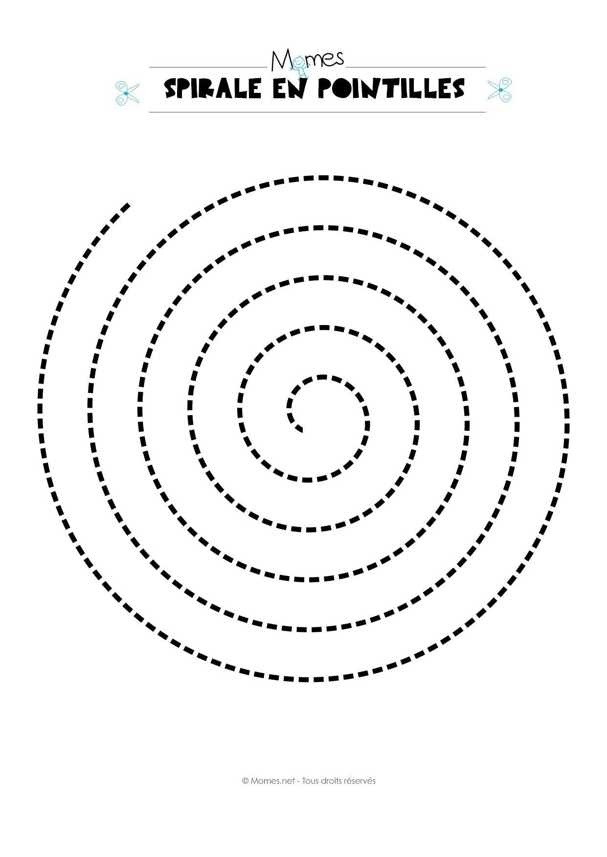 Modèle de spirale en pointillés | Pinterest | Cutting activities ...