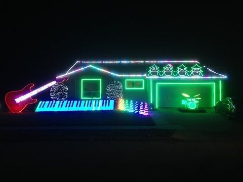 First, cue up the Trans-Siberian Orchestra. - Monroe House Wins Hallmark Holiday Lights Contest Holiday