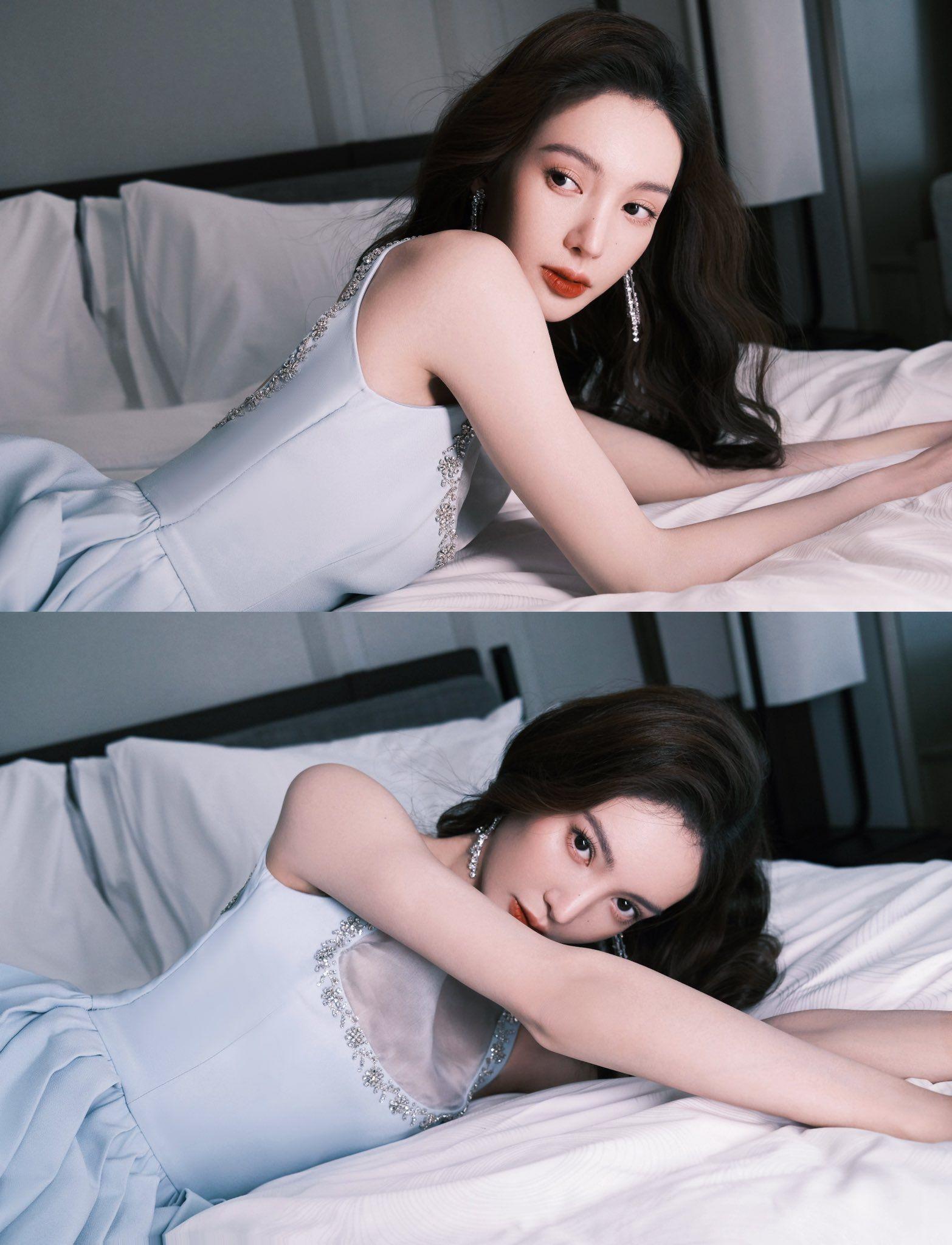 Dili Reba poses for photo shoot   China Entertainment News