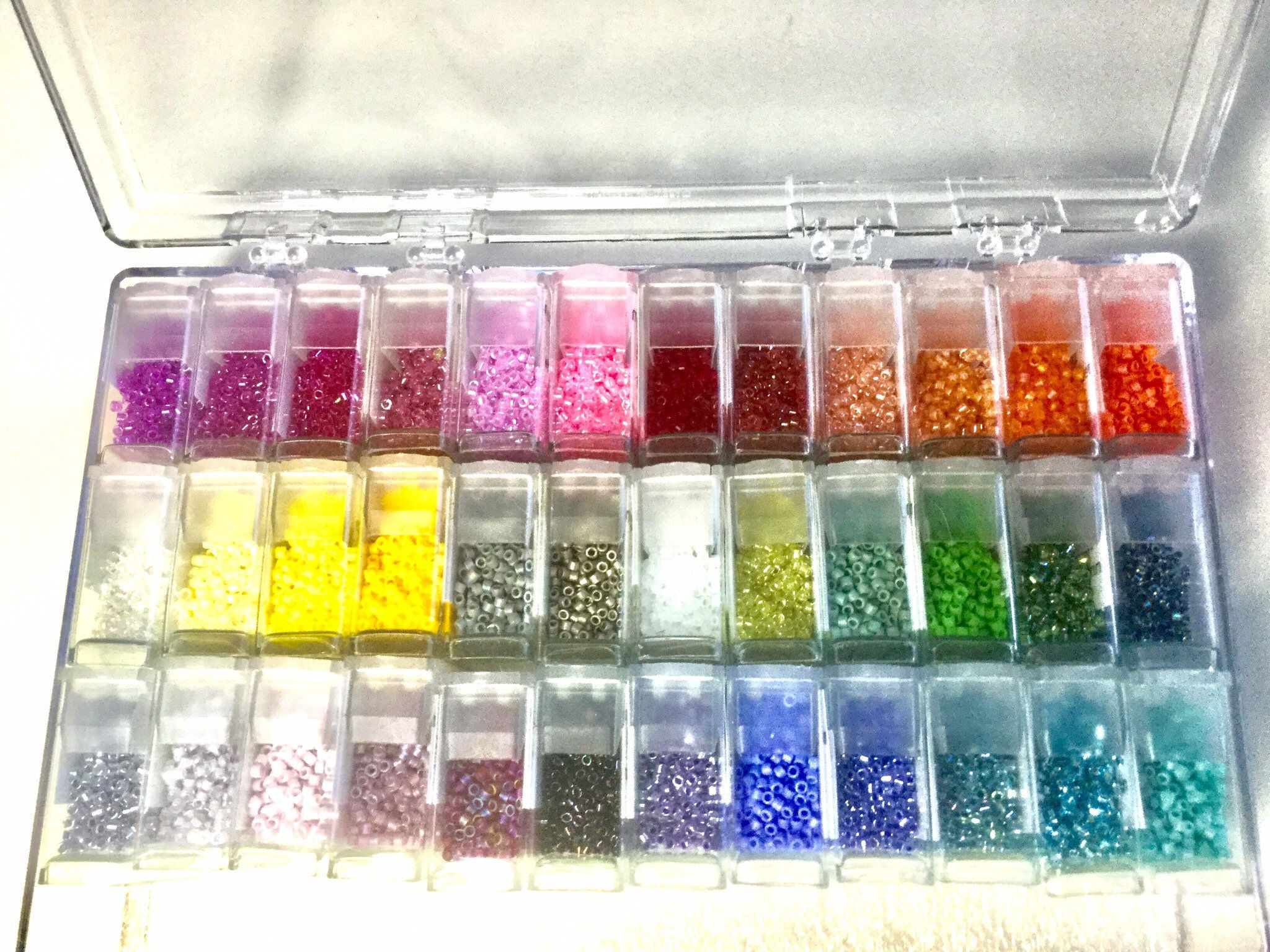 28 Slots, 10 Pieces Diamond Painting 4 Pack Clear Storage Containers