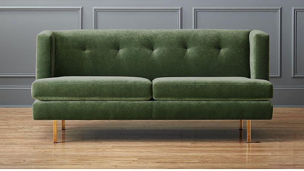 Avec Apartment Sofa With Brass Legs Apartment Sofa Green Sofa Small Sofa