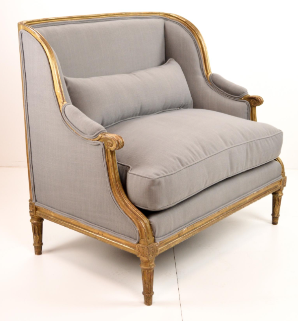 Grey & Gold French Chair