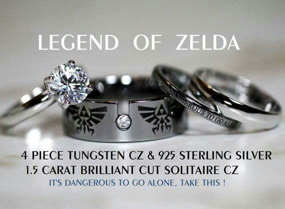 Legend Of Zelda Wedding Rings Wedding Rings Solitaire Cz Wedding Ring Sets Wedding Ring Sets
