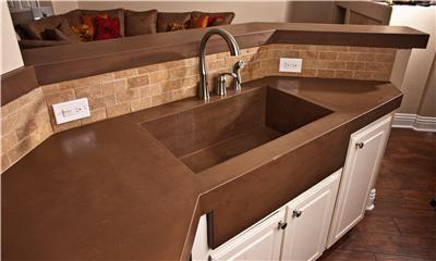 Amazing Brown Countertop Concrete Countertops Concrete Wave Design Anaheim, ...
