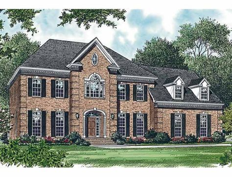 Colonial Style House Plan 4 Beds 3 5 Baths 3256 Sq Ft Plan 453 360 Colonial House Plans Mediterranean Style House Plans Colonial House