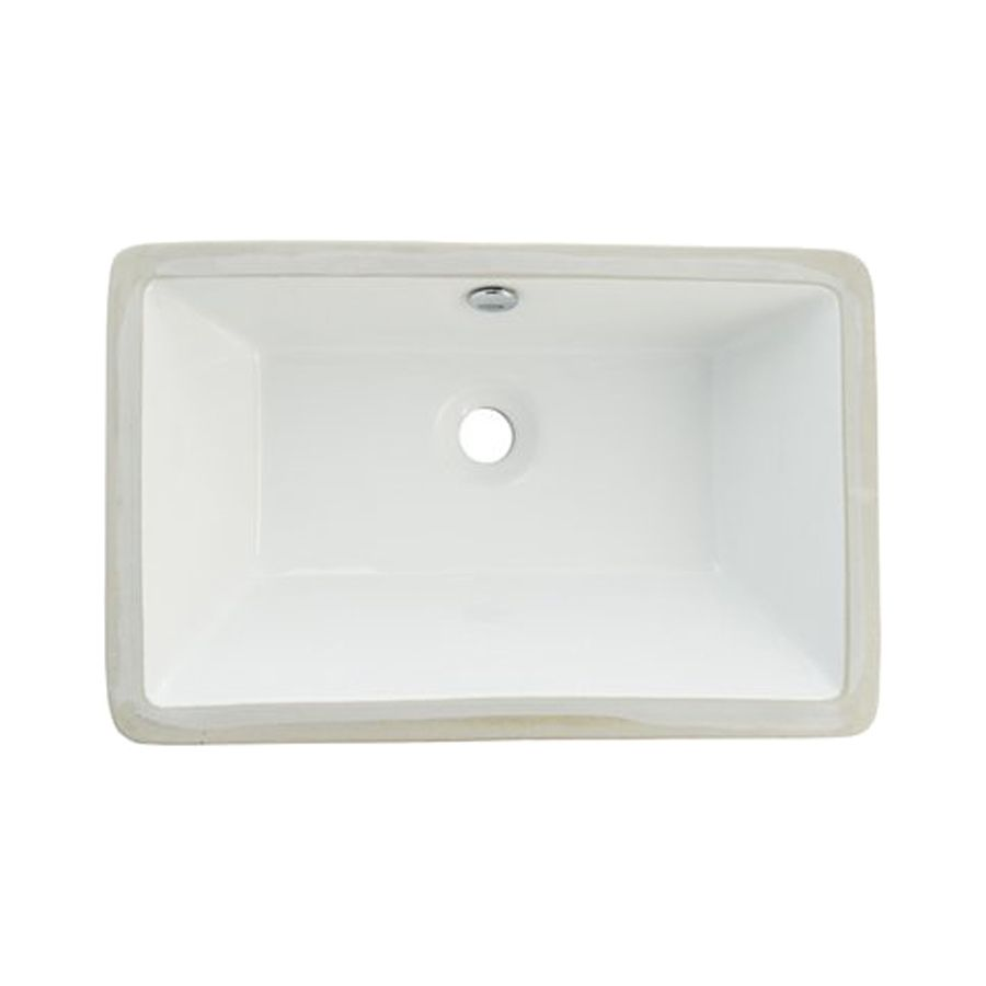 Shop Elements Of Design Castillo White Undermount Rectangular Bathroom Sink With Overflow At Lowes Com Bathroom Sink Rectangular Sink Bathroom Sink