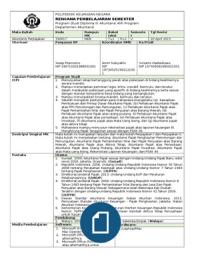Rps Akuntansi Perpajakan Ok Akuntansi Belajar Keuangan