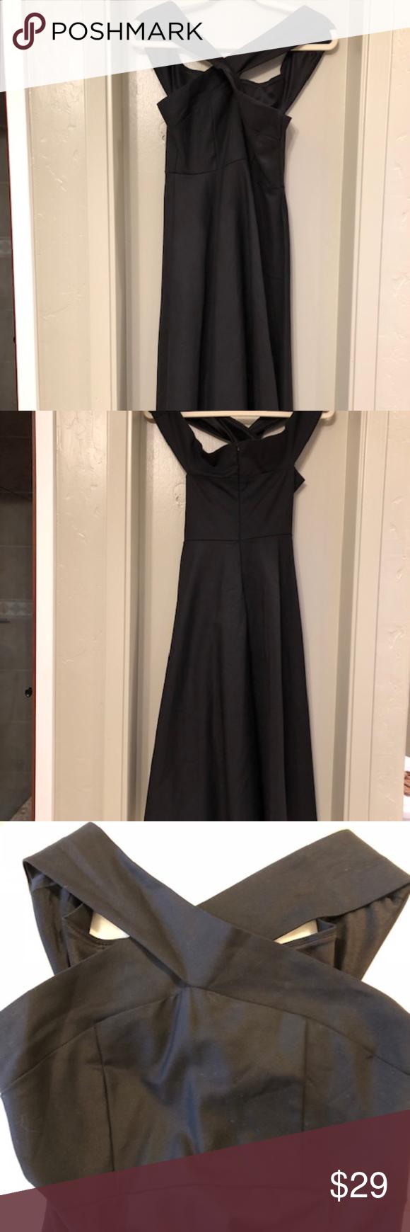 The Editor S Market Cross Front Dress Excellent Condition Black Cross Front Dress Zipper Back Closure Straight Wide Stra Cross Front Dress Dresses Dress Zipper [ 1740 x 580 Pixel ]