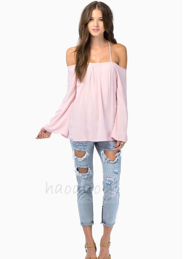 Find More Blouses & Shirts Information about S~XXL women's tops 2014 loose straps solid color chiffon blouse plus size camisa feminina black blue pink and white blouse,High Quality Blouses & Shirts from Isabella International Trade Co.,LTD on Aliexpress.com