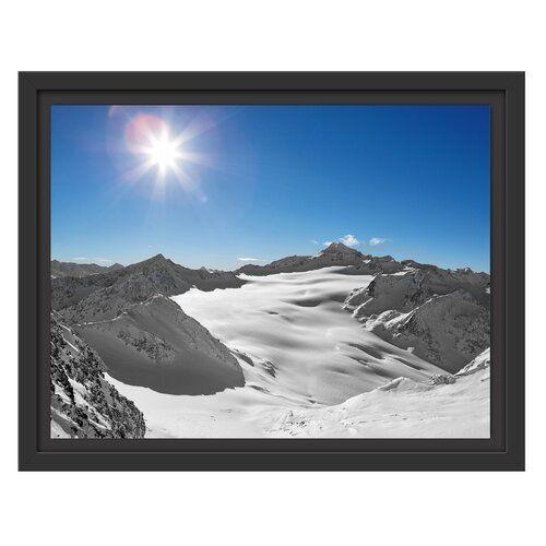 Photo of East Urban Home Framed Print Sun in the Winter Mountains Wayfair.de
