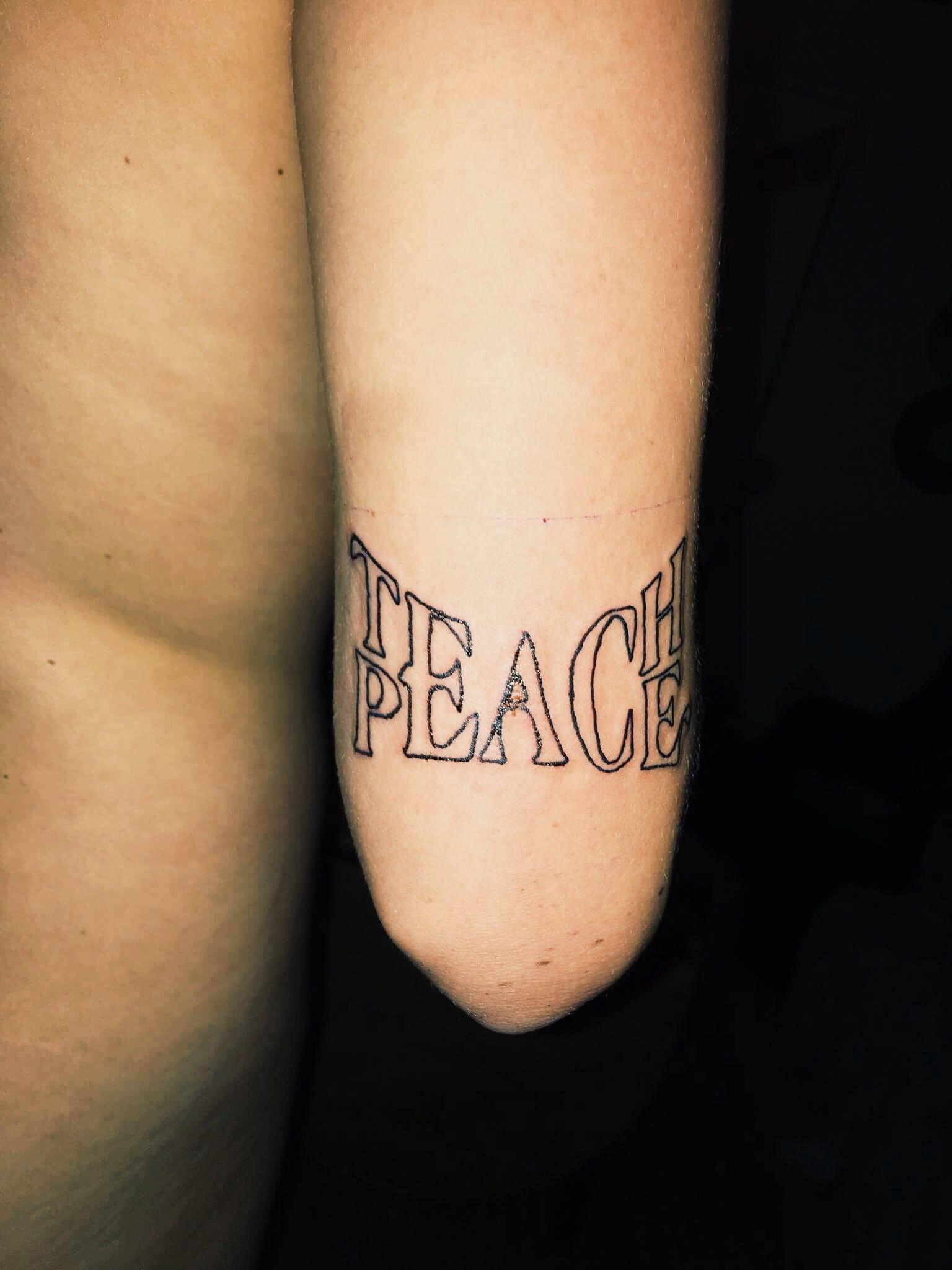 Peace Word Tattoo : peace, tattoo, Teach, Peace, Those, Beautiful, People, Tattoos,, Delicate, Feminine, Tattoos