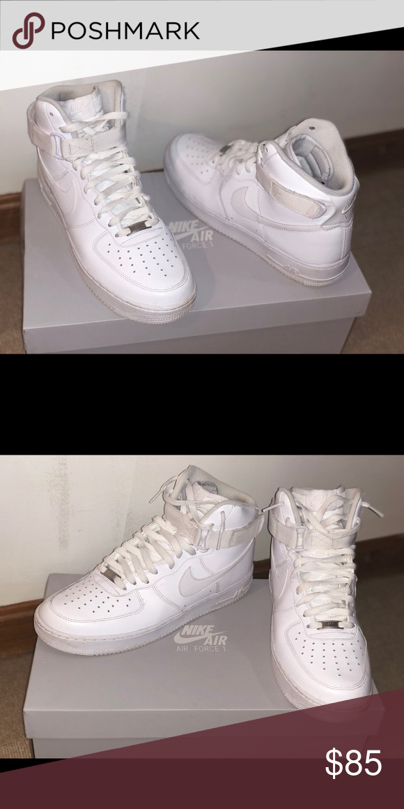 Nike Air Force 1 High top, White, slightly used, mint