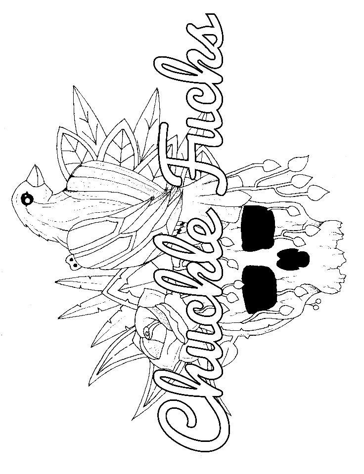 that so raven coloring pages   Raven - Adult Coloring page - swear. 14 FREE printable ...