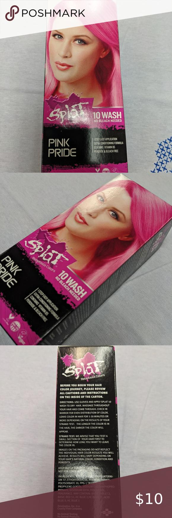 Splat Pink Pride Hair Dye In 2020 Pink Pride Dyed Hair Splat Hair Color