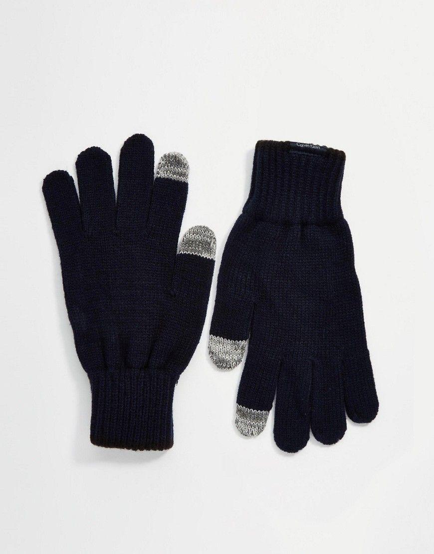 Seje Calvin Klein Brad Gloves - Blue Calvin Klein Accessories til Herrer i behageligt materiale