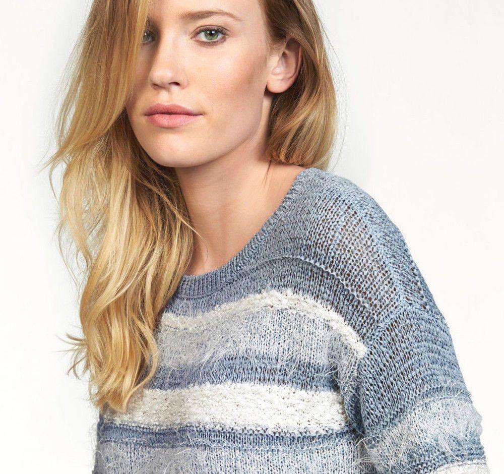Tom #Tailor #Damen #Pullover #hellblau weiß Neu Gr#.S