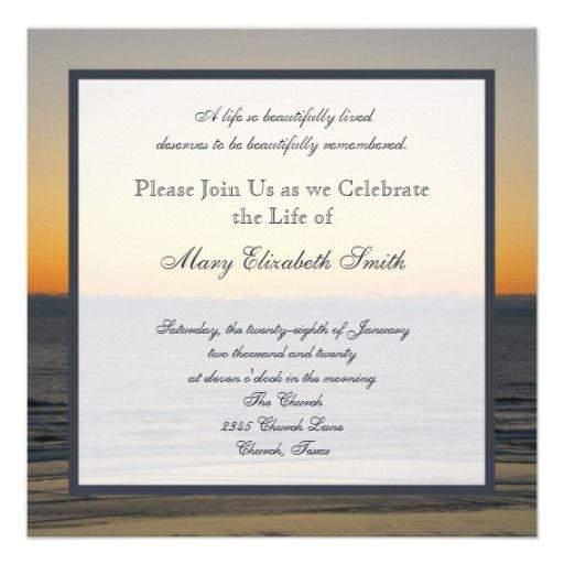 Celebration Of Life Invitation Zazzle Com Celebration Of Life Rehearsal Dinner Invitations Memorial Service Invitation