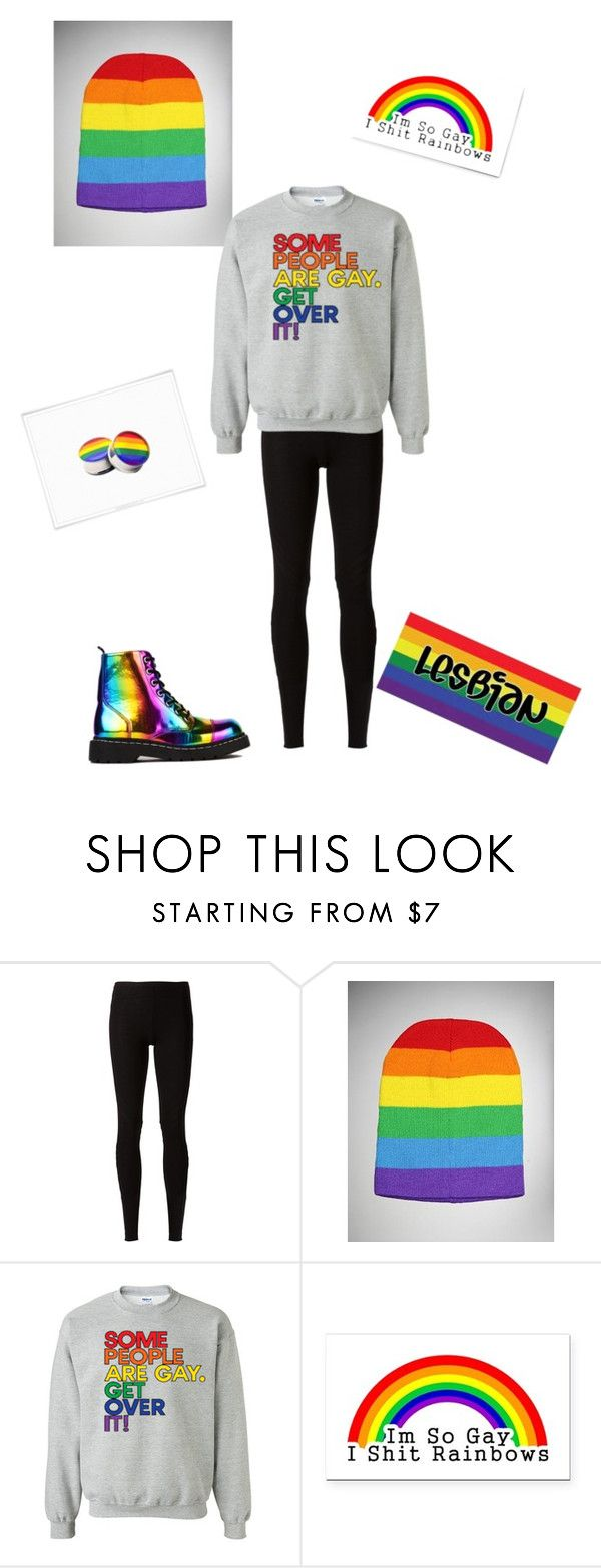"""""""Not that big of a surprise... I'm lesbian!"""" by sircharles ❤ liked on Polyvore featuring Rick Owens Lilies, T.U.K., pretty, rainbow, gay, Lesbian and ComingOut"""