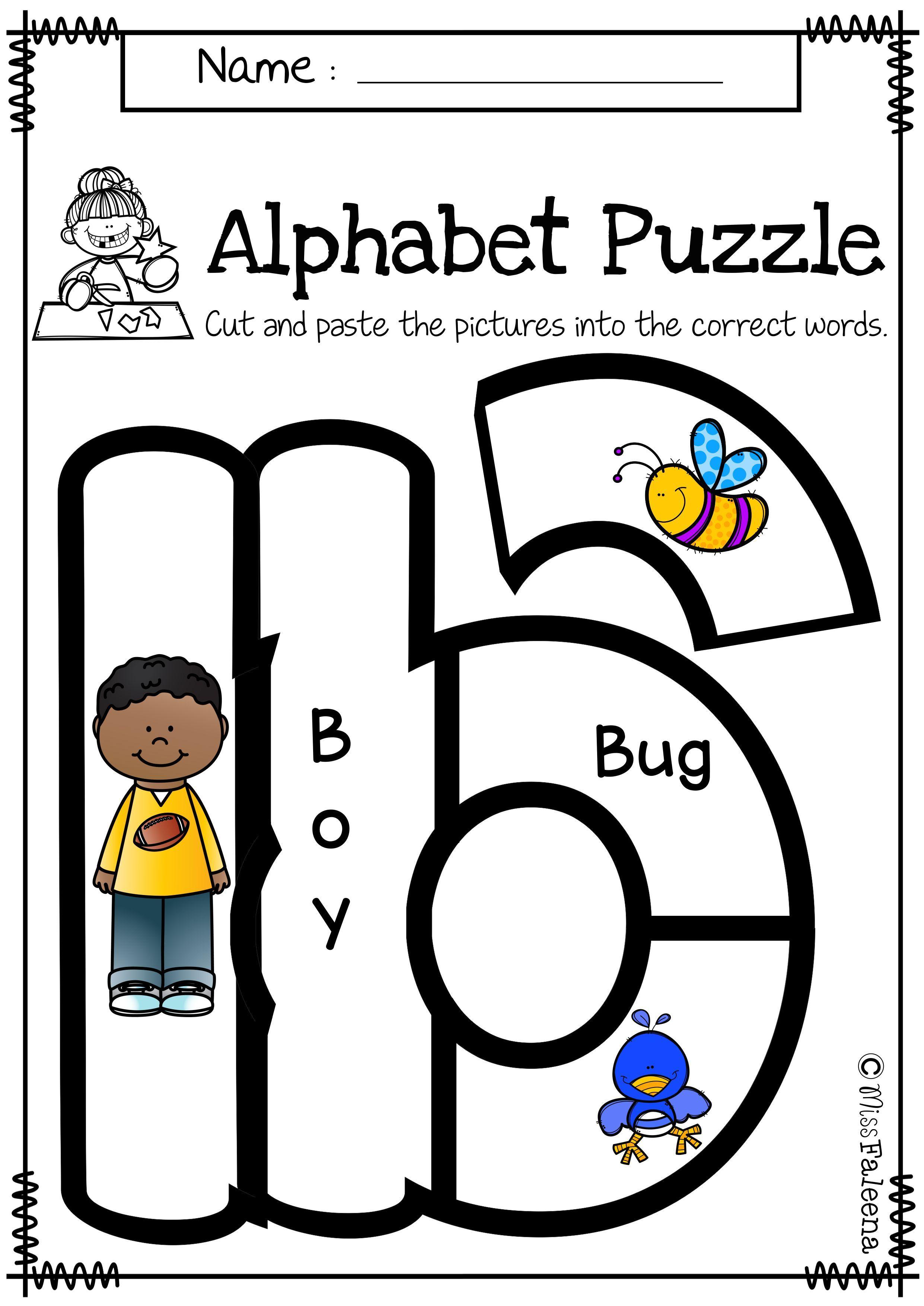 Alphabet Letter Puzzles Lowercase