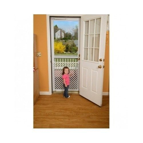 Screen Door Saver Protector Gate Front Back Child Pet Damage Prevention Screen Door Safety Gate Home Safety