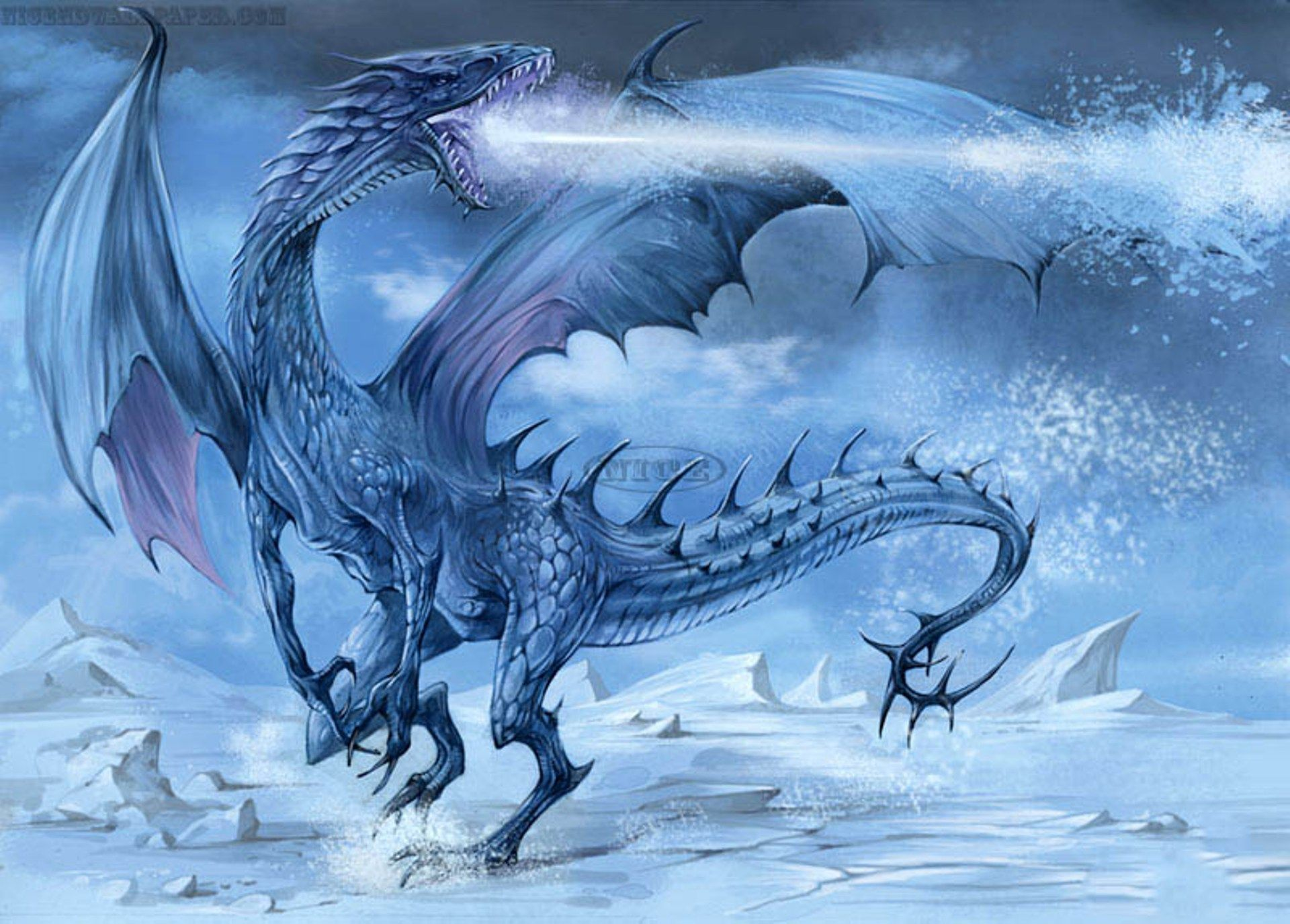 Fantasy Ice Dragons Wallpaper Cool Hd Ice Dragon Fantasy Dragon Cool Dragon Pictures