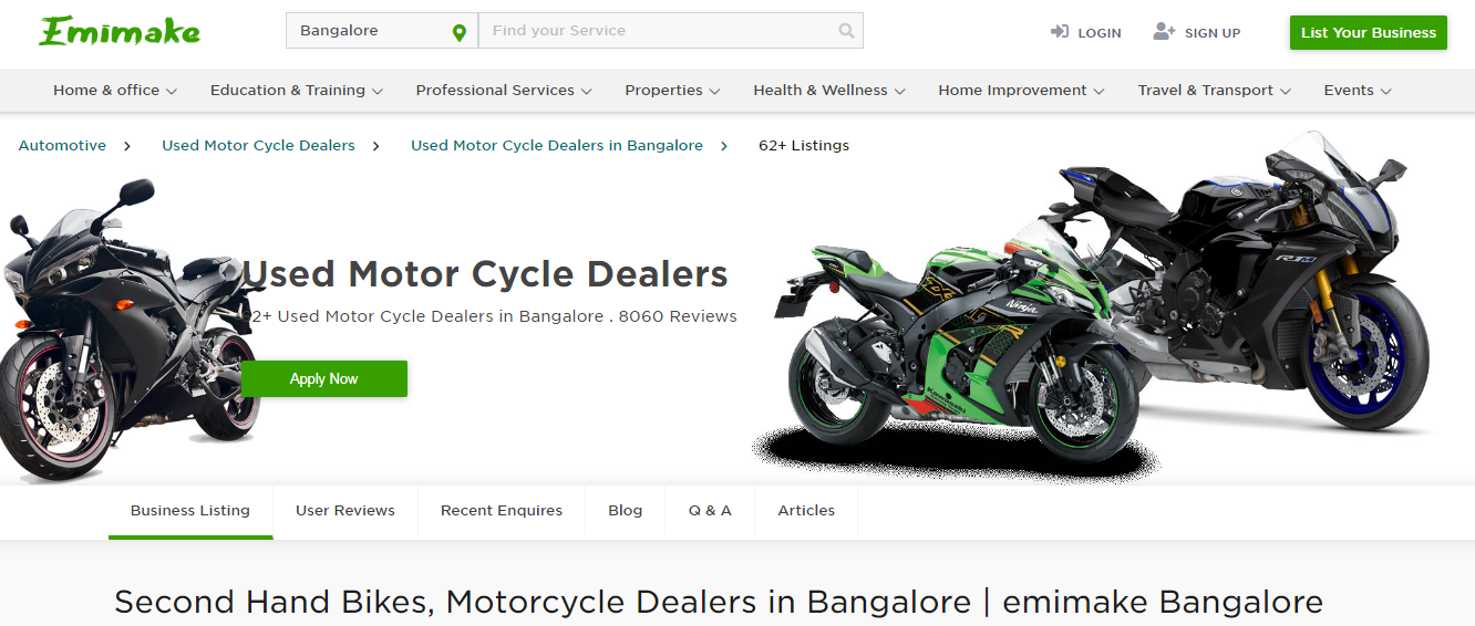 Second Hand Bikes Motorcycle Dealers In Bangalore Emimake Bangalore In 2020 Motorcycle Dealer Used Bikes Bikes For Sale