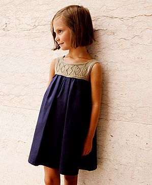 a477cb353a2 Vestido con cuerpo de ganchillo Sewing Hacks, Sewing Crafts, Sewing  Projects, Sewing Clothes