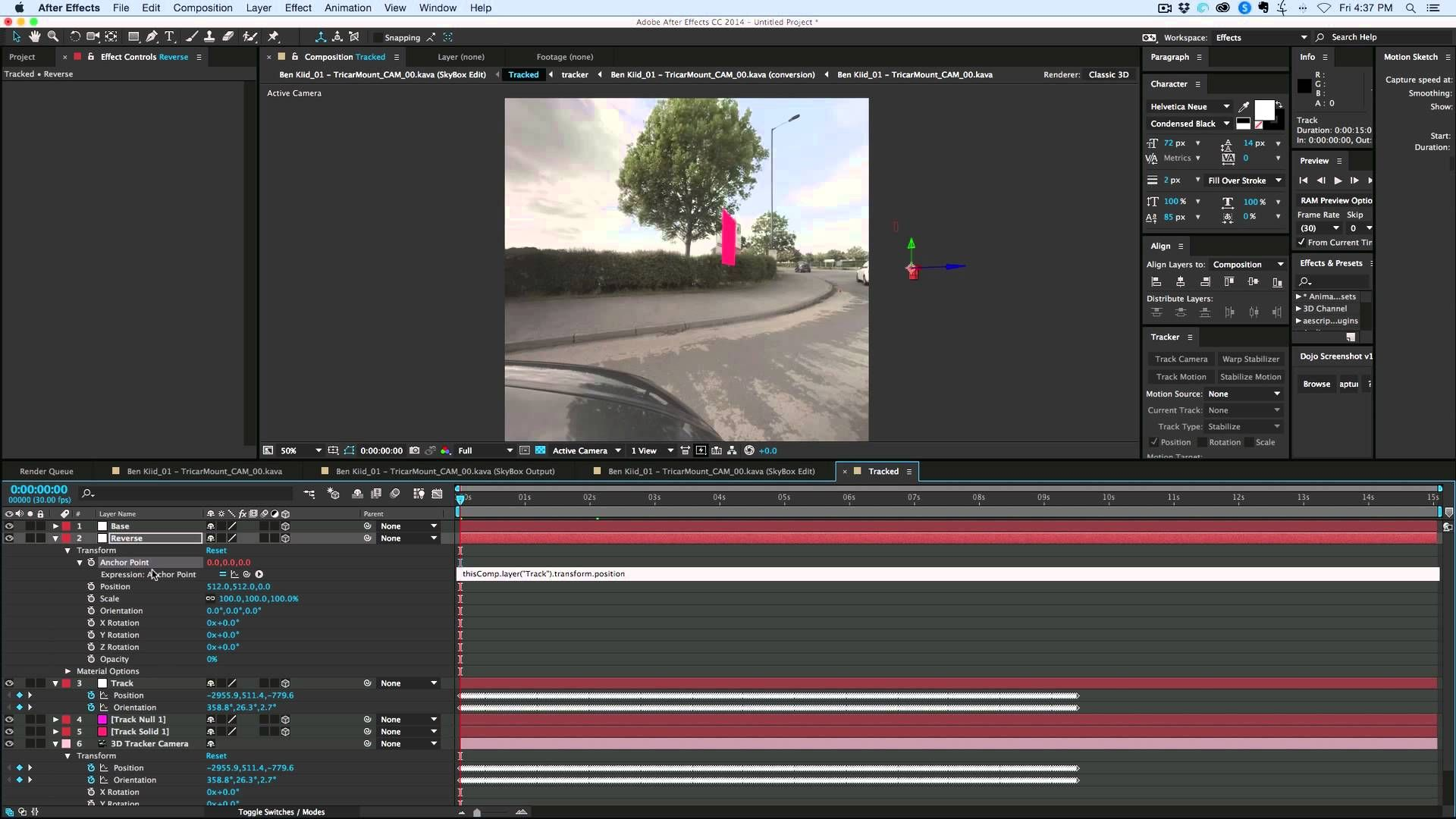 How To 3d Camera Track With 360 Degree Footage Aftereffects