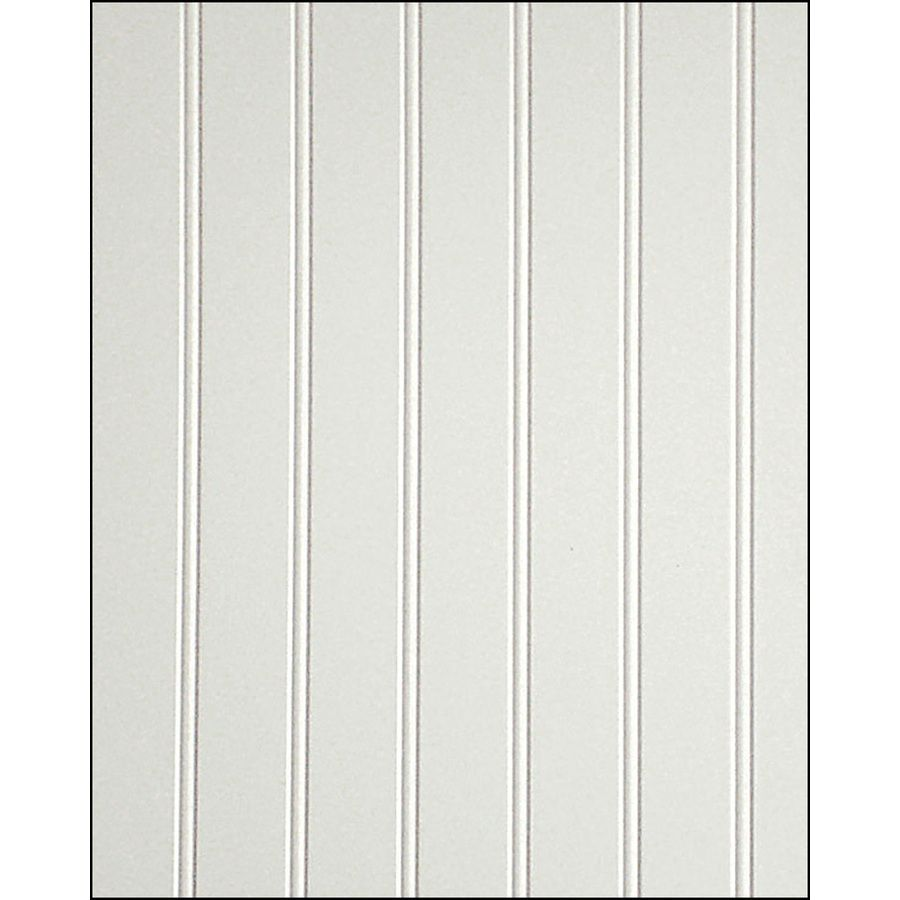 20 Fashionwall 47 75 In X 7 98 Ft Edge And Center Bead White Hardboard Wall Panel Wainscoting Panels Wainscoting Wall Paneling