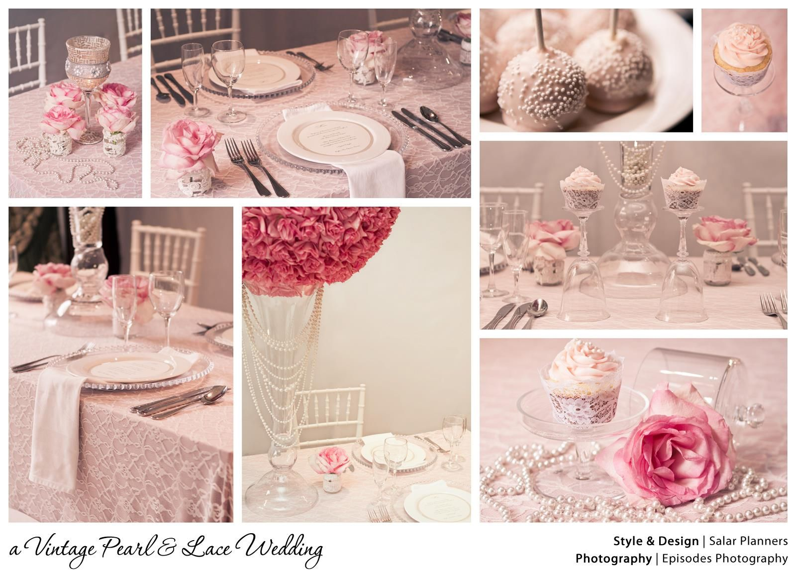 a Vintage Pearl & Lace Wedding} by Salar Event Planning at Hotel ...