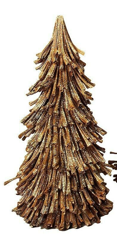 NIB 10 Dried SUNFLOWER Husk GOLD Glitter CHRISTMAS TREE Table Top DECORATION #Dekorasyon #ChristmasWinter #sunflowerchristmastree