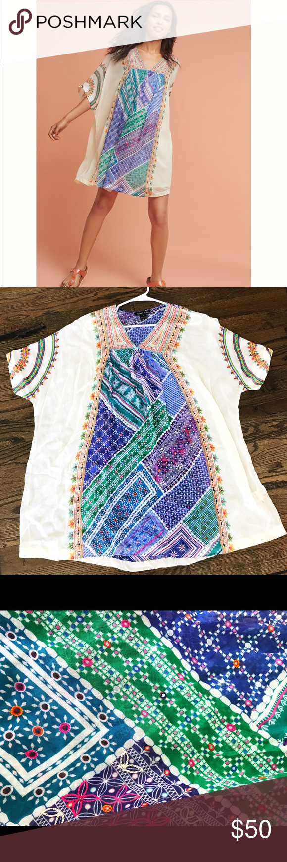 8b4aeda7cd7d Anthropologie Tanvi Kedia Veena Beaded Caftan Top In excellent condition  Absolutely stunning! Tanvi Kedia Tops Tunics